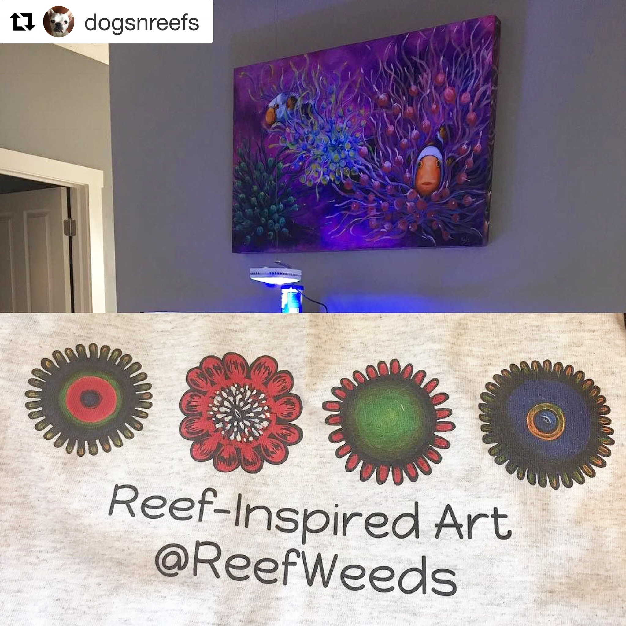 One of my first ever reef paintings - SOLD