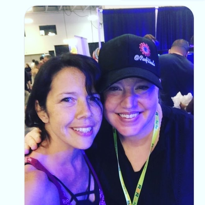 I got to meet my friend, Michelle, in person at RAP NY! What a blast.