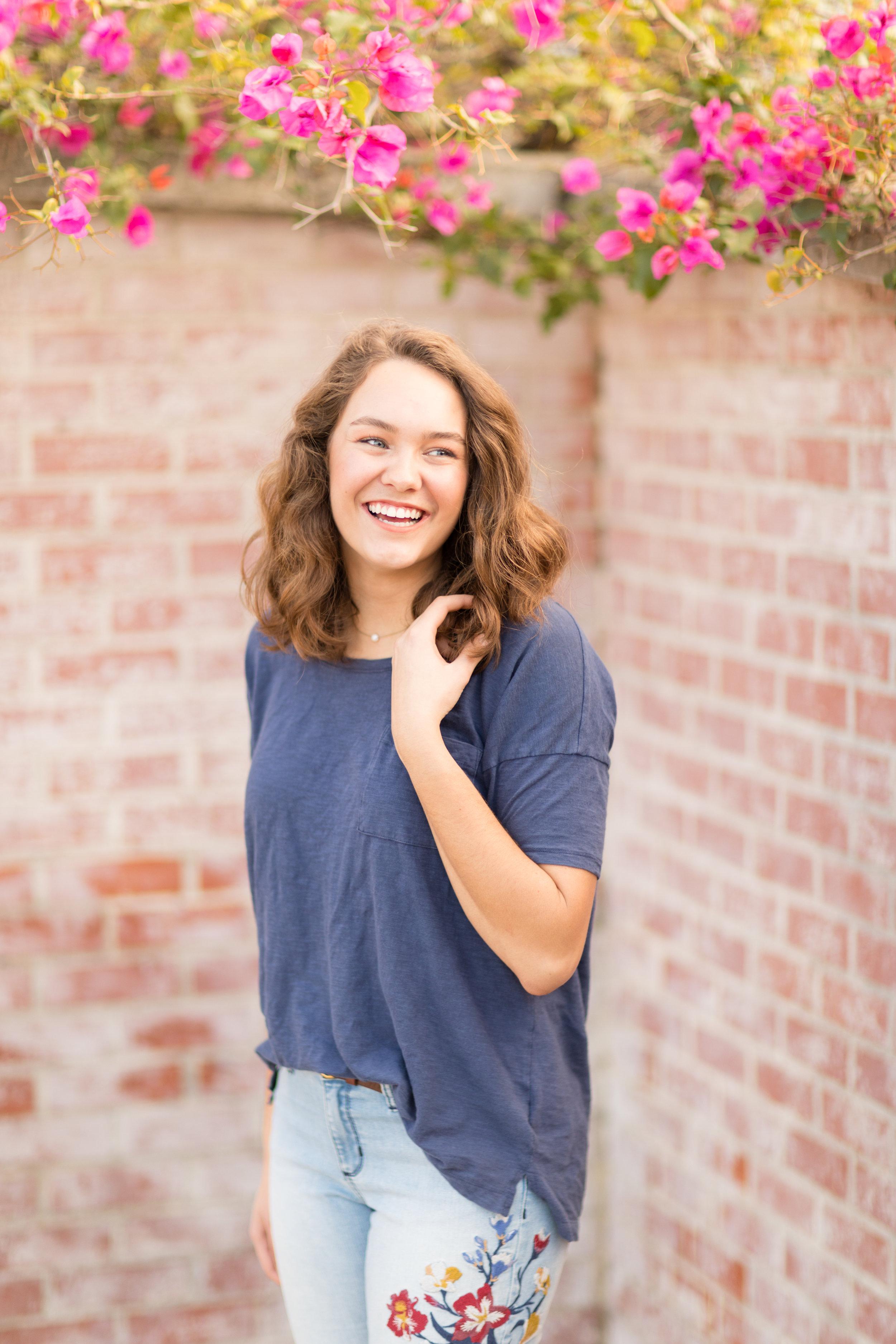 palos verdes senior portraits
