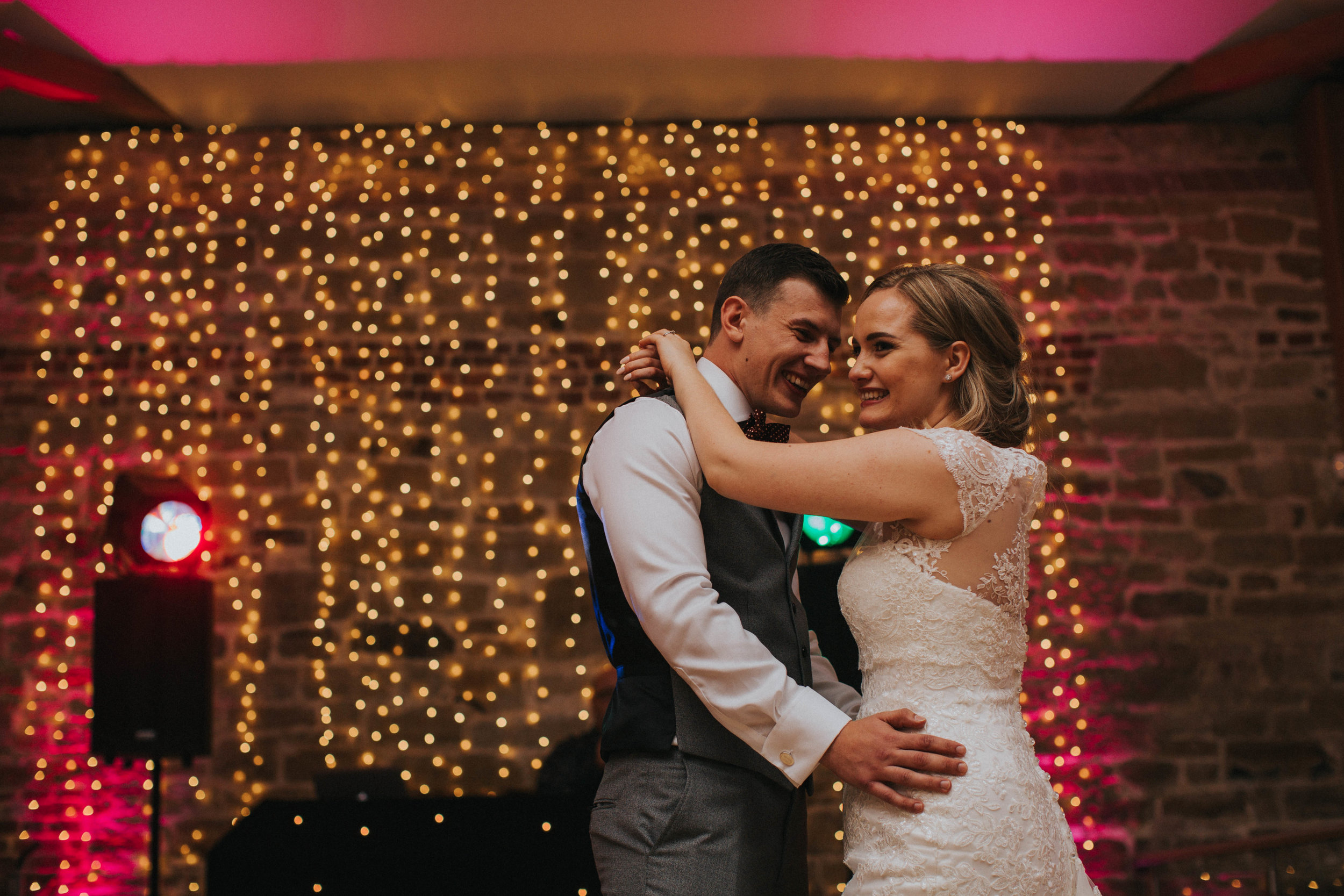 first dance at hendall manor barns