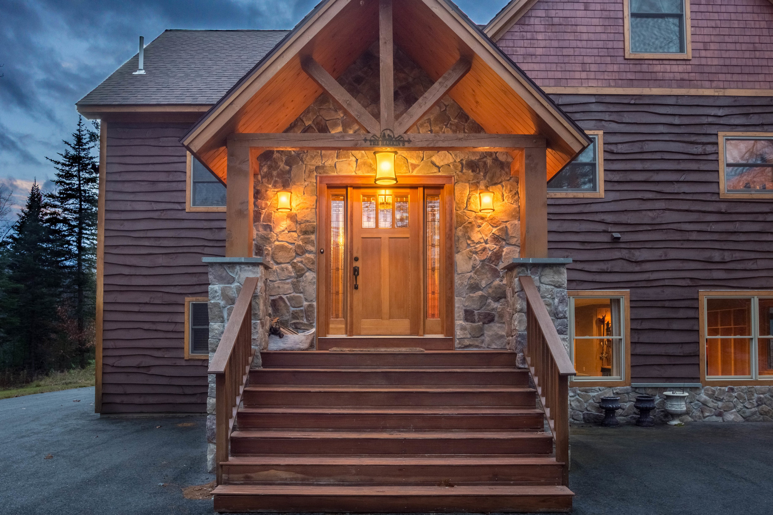 Twilight Mountain Home Entrance