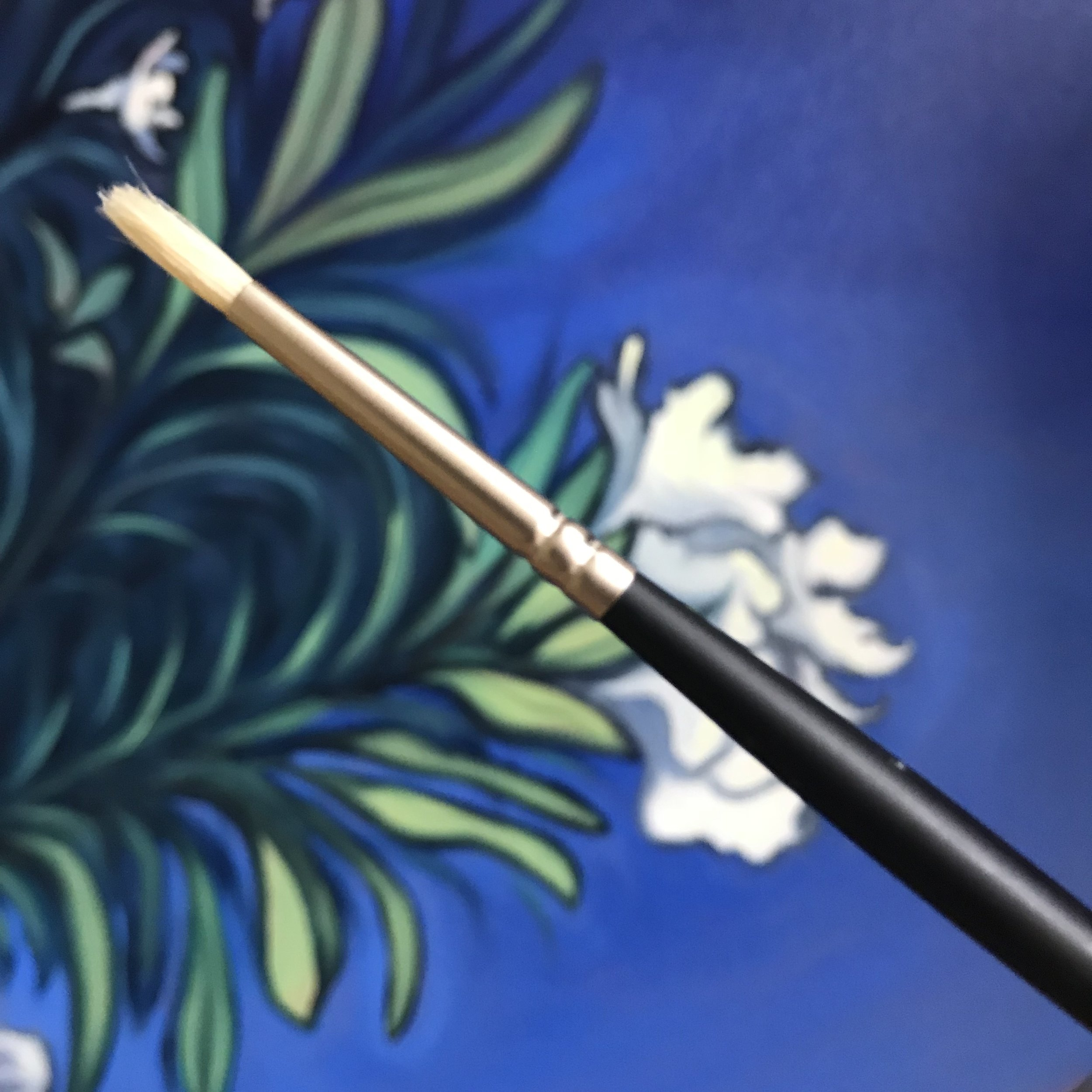 #1 round oil brush for small details, the first purchase of my recent Creative Pinellas Emerging Artist Grant!