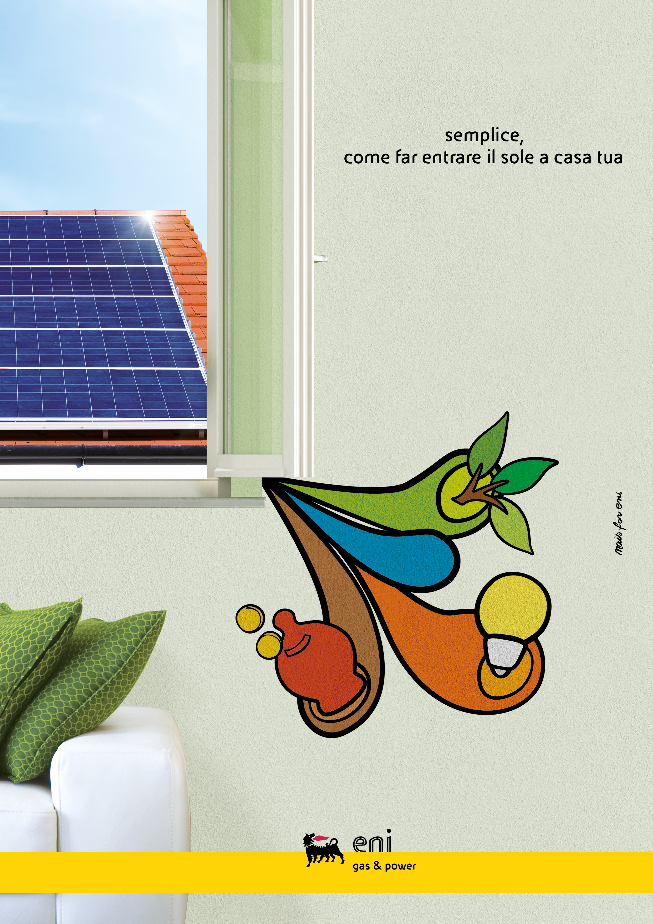 Grafica coordinata meeting fotovoltaico ENI