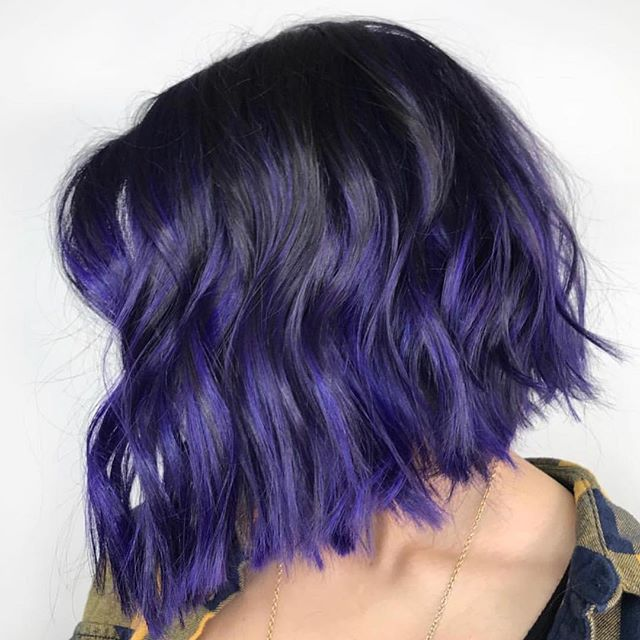 When your hair go green, let us put purple on it!! 😂 beautiful hair done by @a.b.hair on the beautiful Sabina!