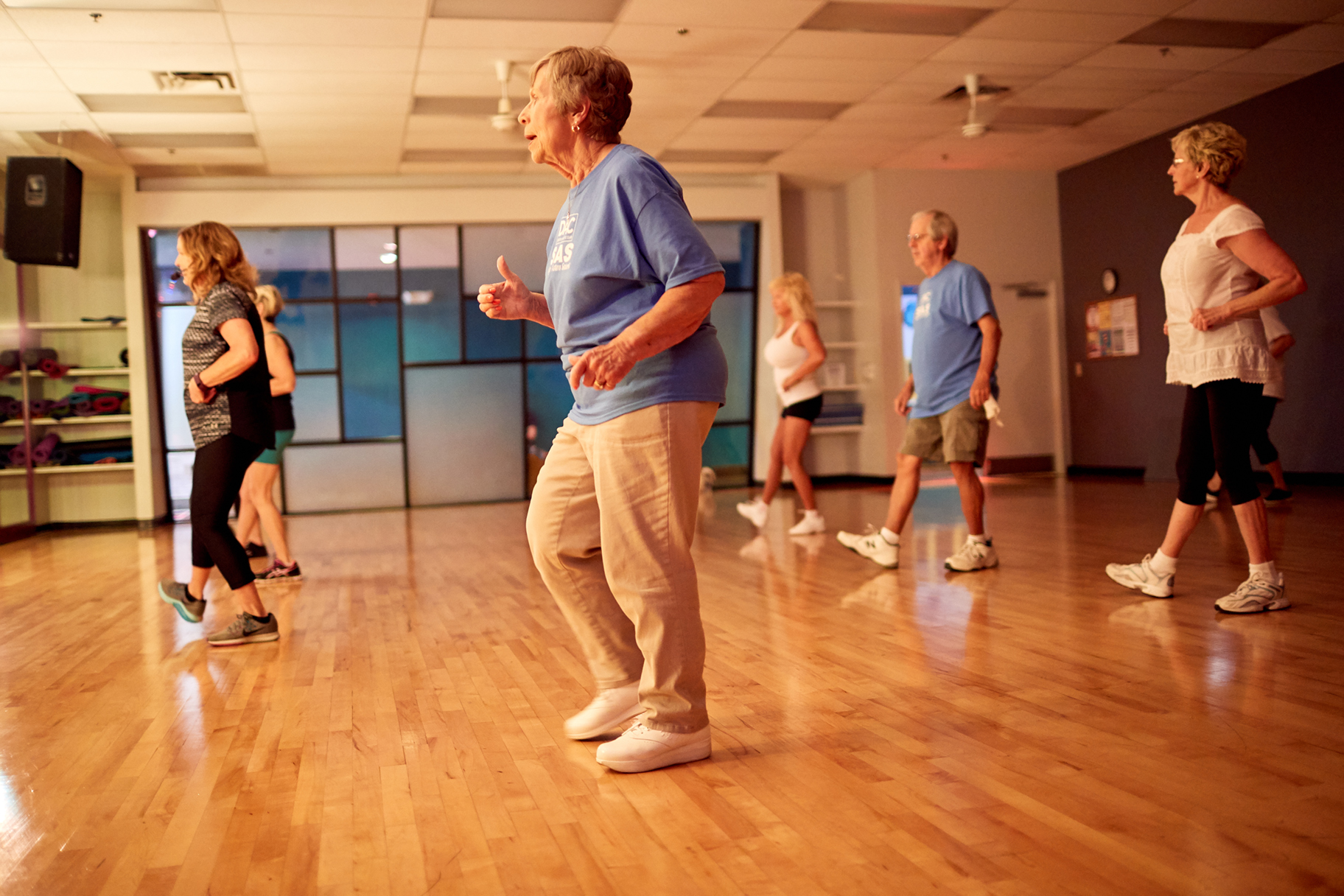 Zumba Gold - Latin dance inspired workout made for seniors, beginners or others needing modifications in their exercise routine. Build cardiovascular health by challenging the heart and working muscles through dance moves. See Schedule →