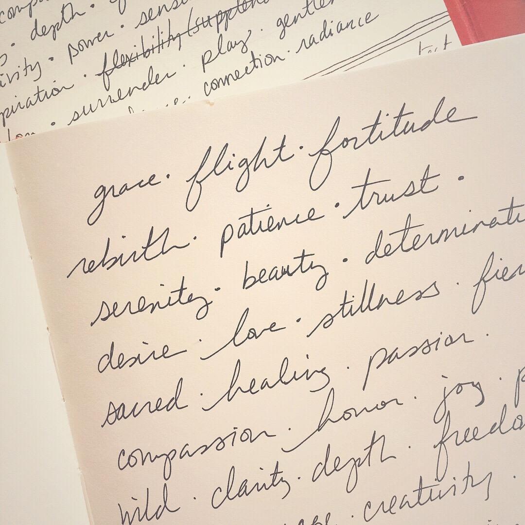 morning journaling on aspects of the divine feminine