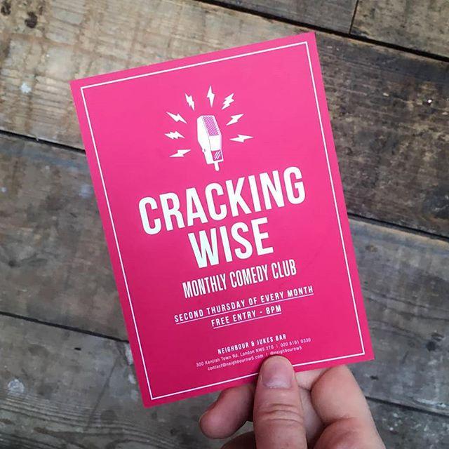 Cracking Wise Comedy is back tonight downstairs in Jukes Bar! Free Entry 🎟️ 8PM Start 🕓 Tasty Burgers 🍔 . . . #comedy #standup #standupcomedy #freecomedy #comedyclub #london #whatsonlondon #kentishtown #ktown #camden #northwest #northwestlondon #northlondon #freelondon #comedian #northlondoncomedy