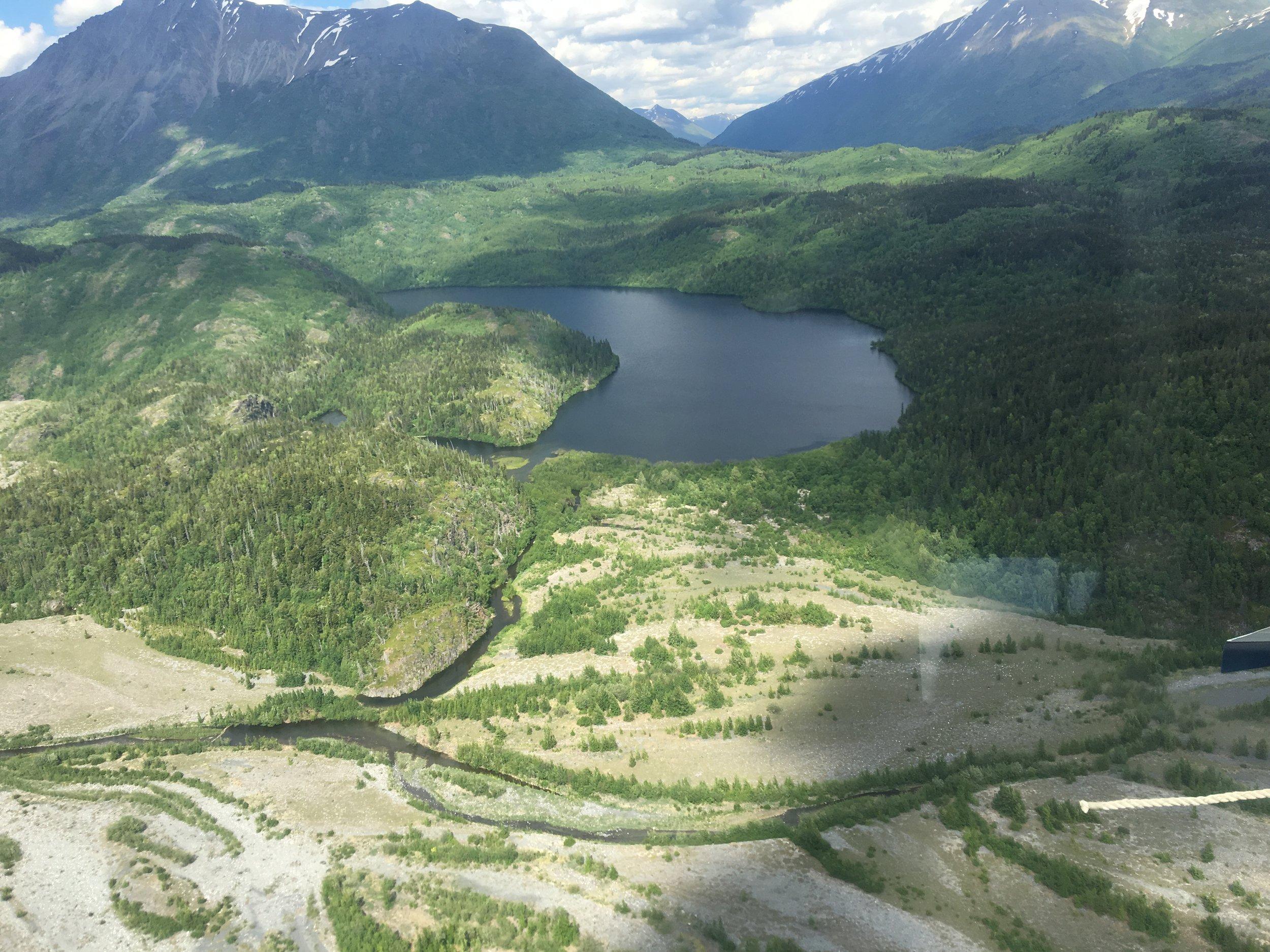 Aerial view of Pothole Lake