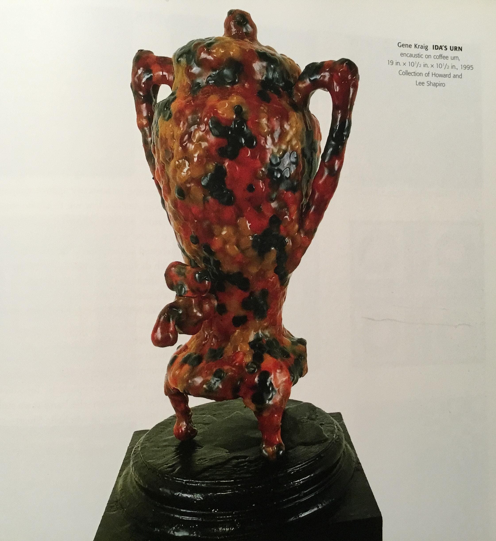 By Gene Kraig  encaustic on coffee urn
