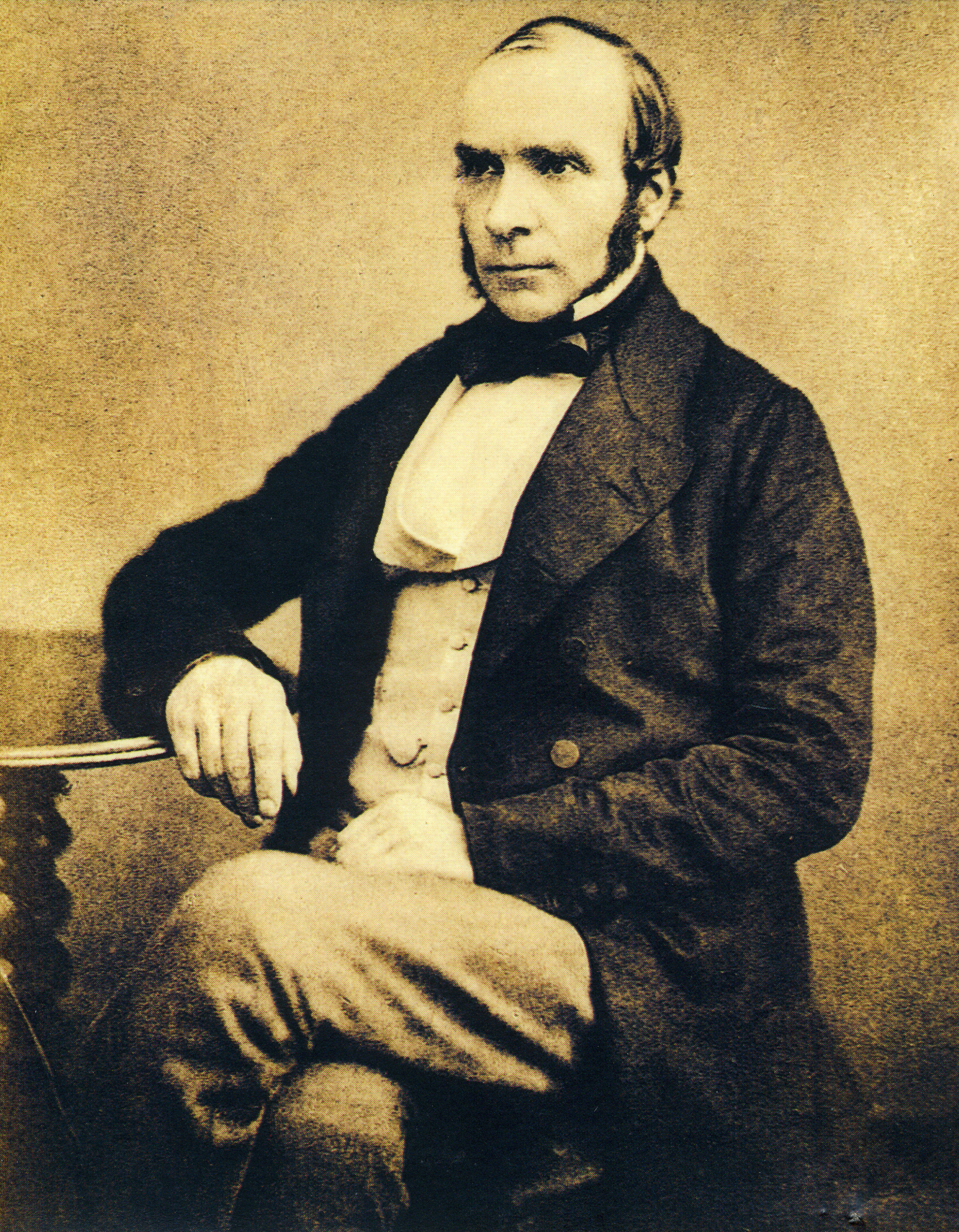 Dr. John Snow, age 44, taken the year before his death in 1857.  Photograph, anonymous:Wellcome Historical Medical Museum &Library, London - Gordis L. Epidemiology , WB Saunders, Philadelphia, 1996