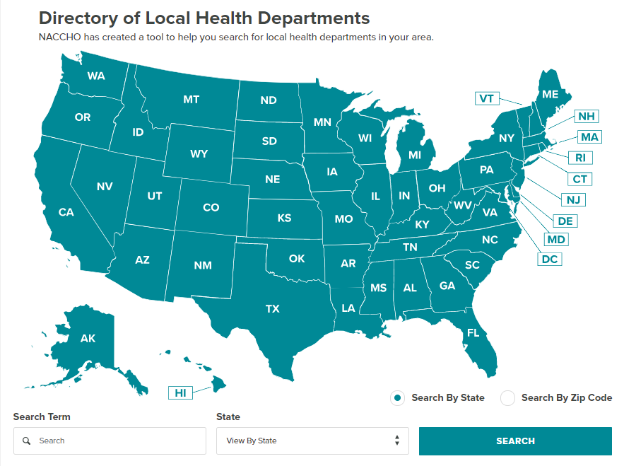 13 JULY 2018: NATIONAL ASSOCIATION OF COUNTY & HEALTH OFFICIALS (NACCHO) DIRECTORY OF LOCAL HEALTH DEPARTMENTS, UNITED STATES, JULY 2018