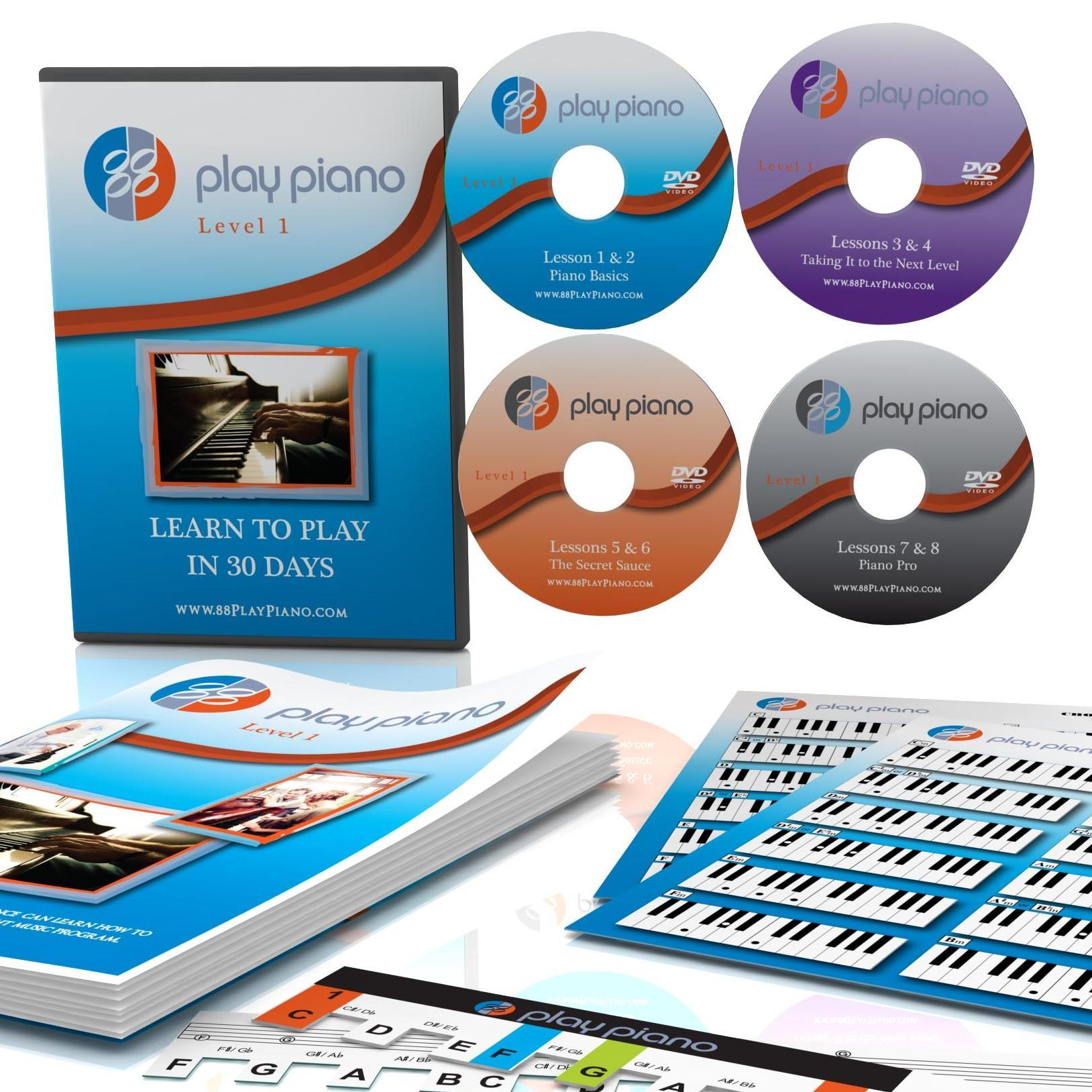 88 Play Piano - This is an innovative way to learn to play the piano quickly. At your own pace, in your own home, on your own time. You'll be playing 8 songs using both your left and right hands and sound amazing quickly!