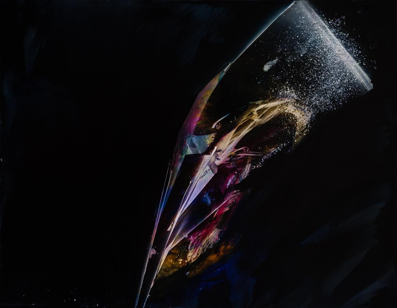 "Voices, 2016, oil on panel, 28"" x 36"""