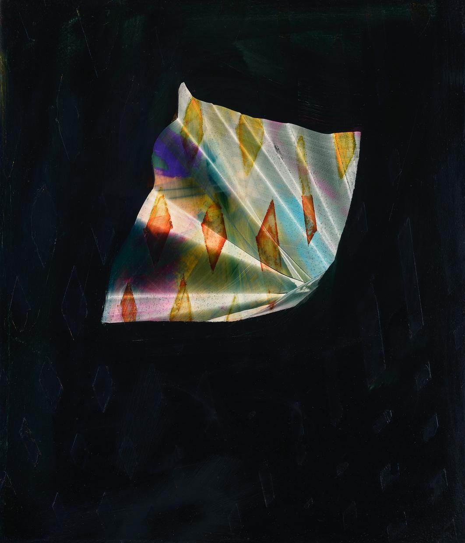 "Siesta, 2014, oil on panel, 14"" x 12"""