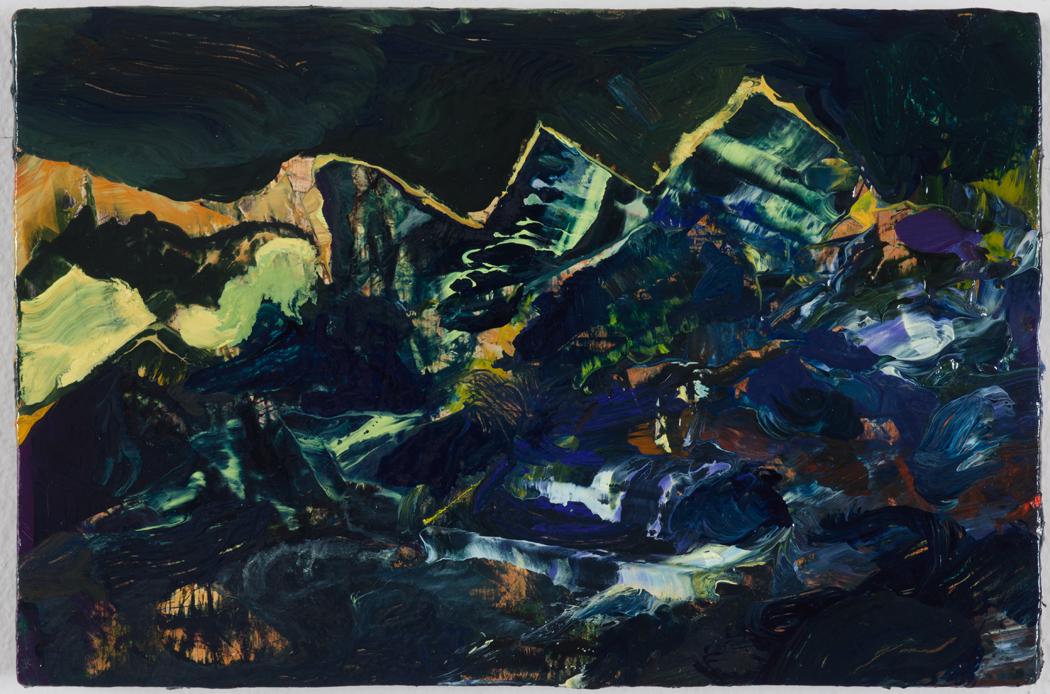 "Dominion, 2013, oil on panel, 3-3/4"" x 5-1/4"""