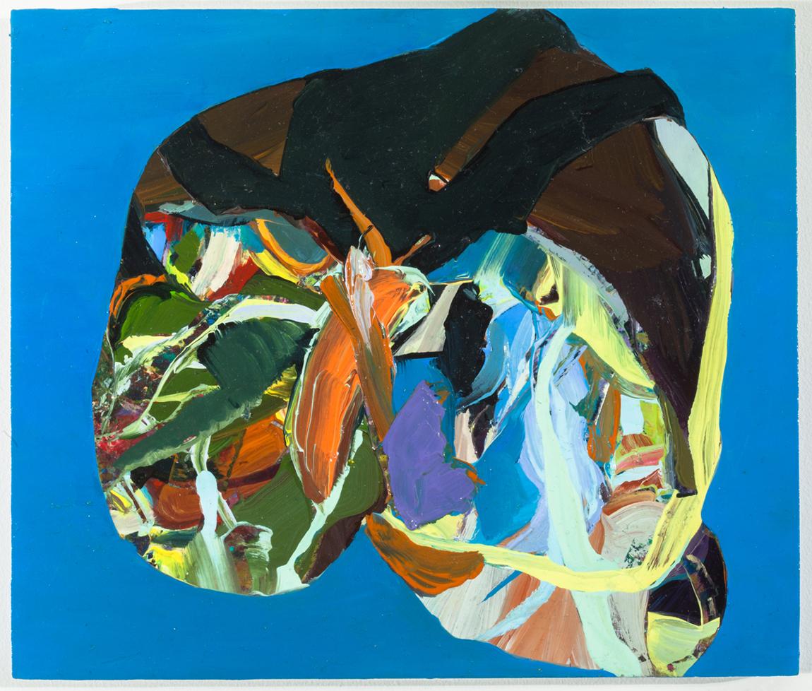 """Gargle, 2012, oil on panel, 8-3/16"""" x 9-5/8"""""""