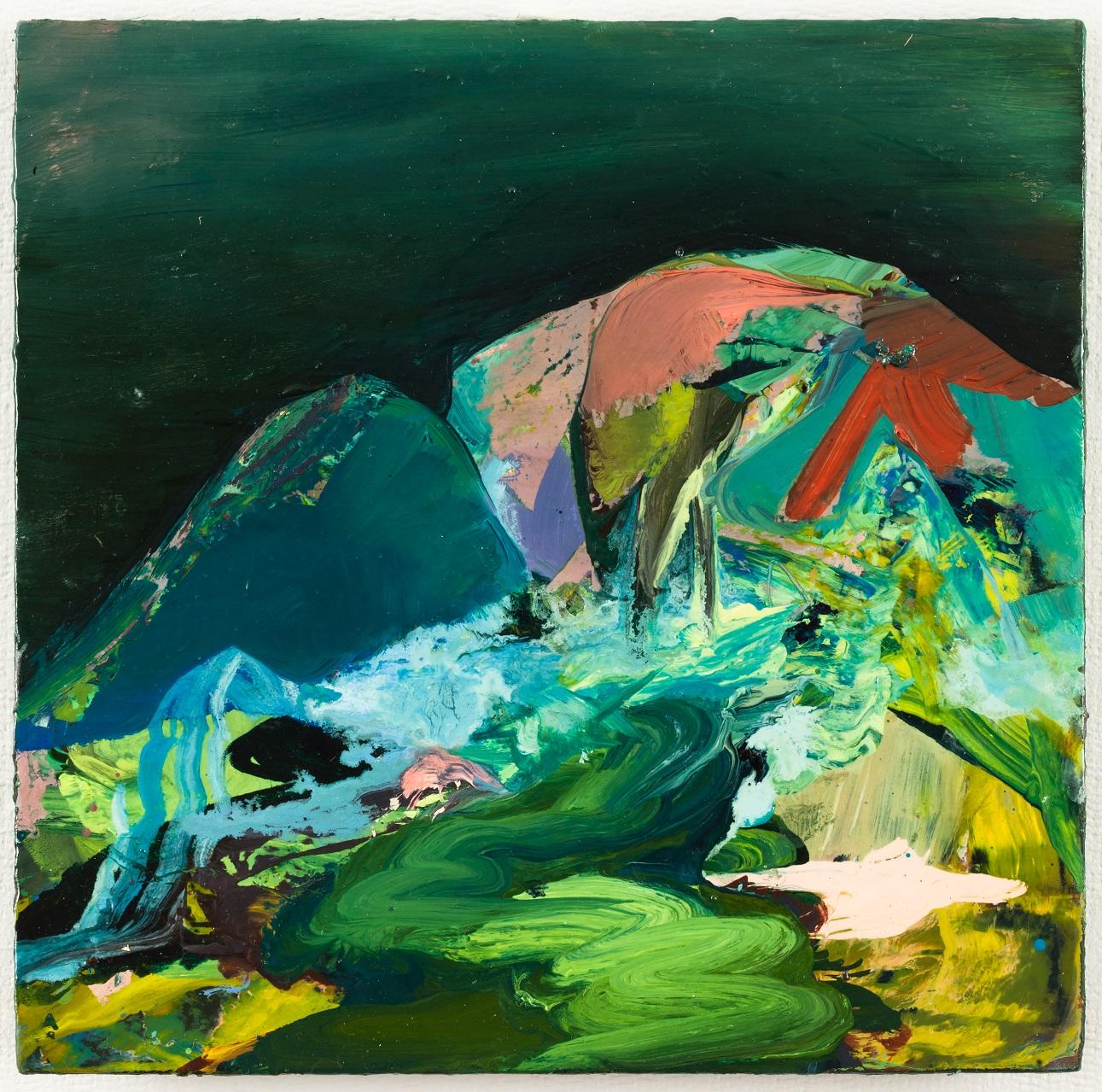 """Land, 2011, oil on panel, 7-1/4"""" x 7-7/8"""""""