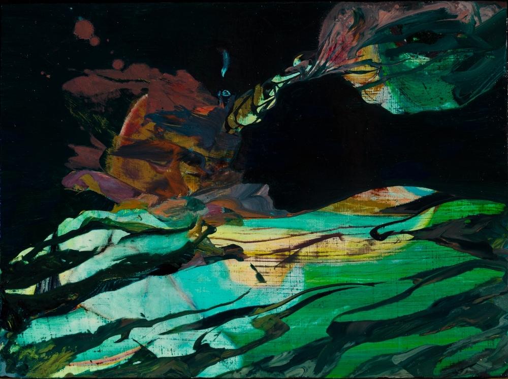 """Medium, 2010, oil on panel, 6"""" x 8"""""""