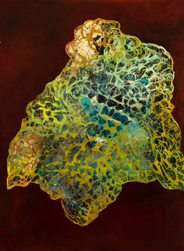 "Amulet, 2010, oil on panel, 47-1/2"" x 35"""