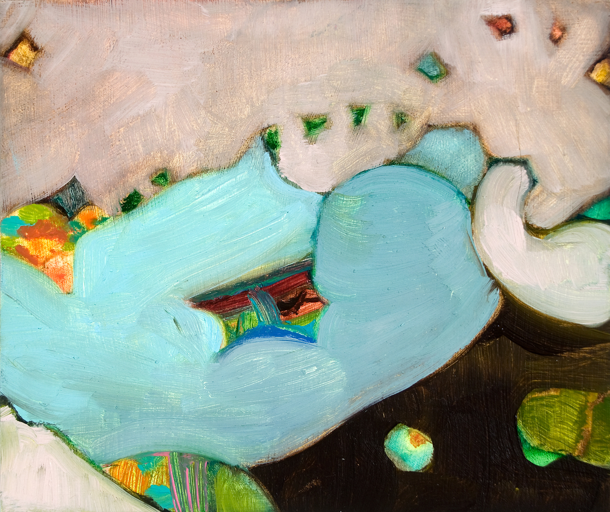 "Lullaby, 2008, oil on panel, 3-7/8"" x 4-3/4"""