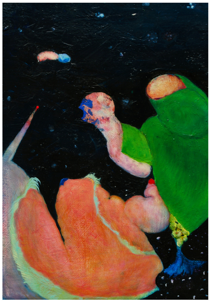 "Untitled (Thesis 5), 2008, oil on panel, 7-3/4"" x 5-1/2"""