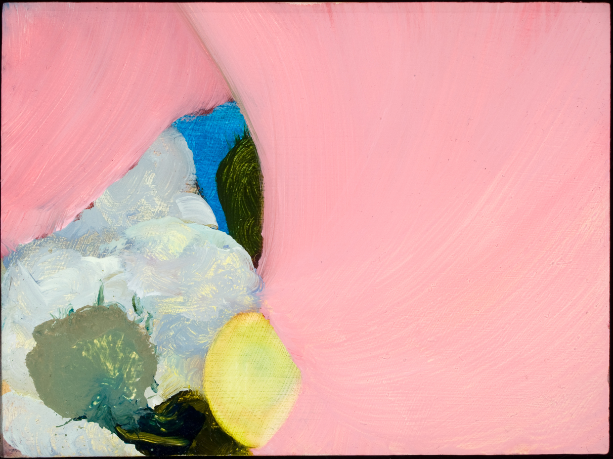 "Untitled (Thesis 7), 2008, oil on panel, 4-3/4"" x 6-1/2"""