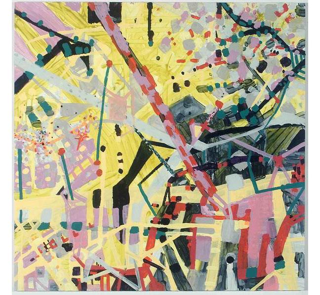 """Day 1, 2006, acrylic on panel, 23-3/4"""" x 24-1/2"""""""