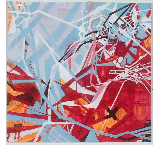 """Day 2, 2006, acrylic on panel, 23-3/4"""" x 24-1/2"""""""