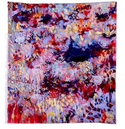 "Field, 2005, acrylic on canvas, 41"" x 37"""