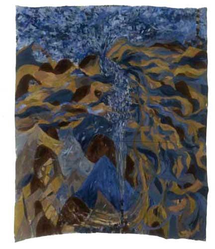 "Wind, 2004, acrylic on canvas, 72"" x 60"""