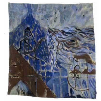 """Blue Mountain, 2004, acrylic on canvas, 18-1/2"""" x 17"""""""