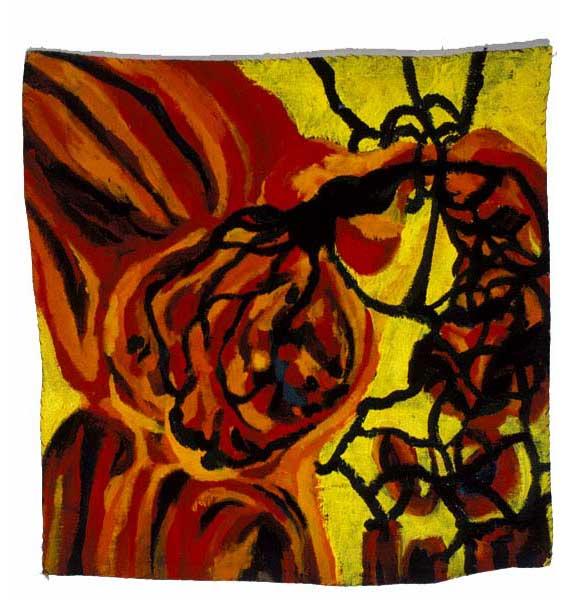 """Pancreatitis II, 2003, acrylic on linen, 18"""" x 18"""""""