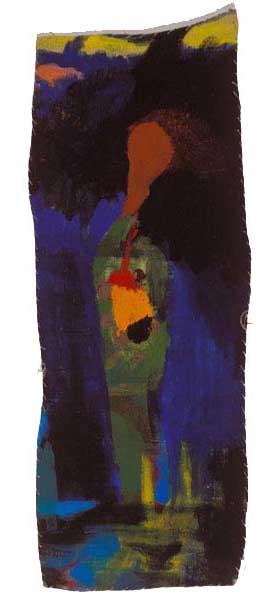"""Pancreatitis I, 2003, acrylic on linen, 17"""" x 6-1/2"""""""
