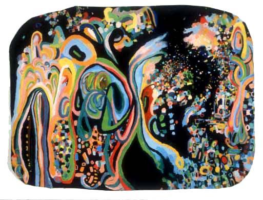 """Play On, 2002, acrylic on canvas, 60-1/2"""" x 45-1/2"""""""