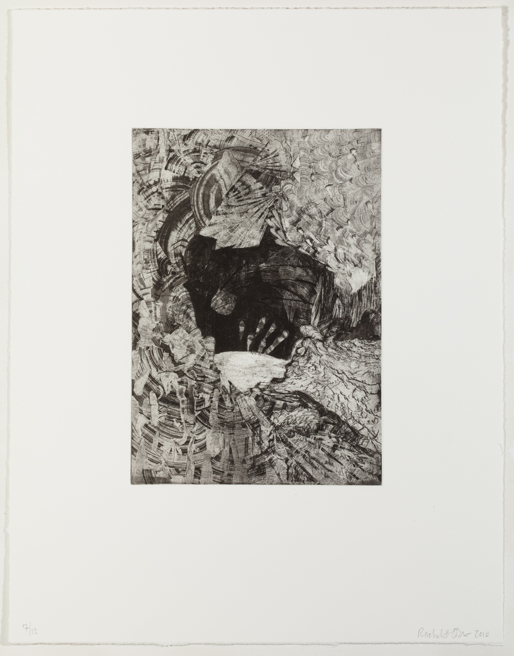 "Belly of the Beast (full page), 2010, etching, edition of 12, 17-1/2"" x 13-1/2"" (paper size)"
