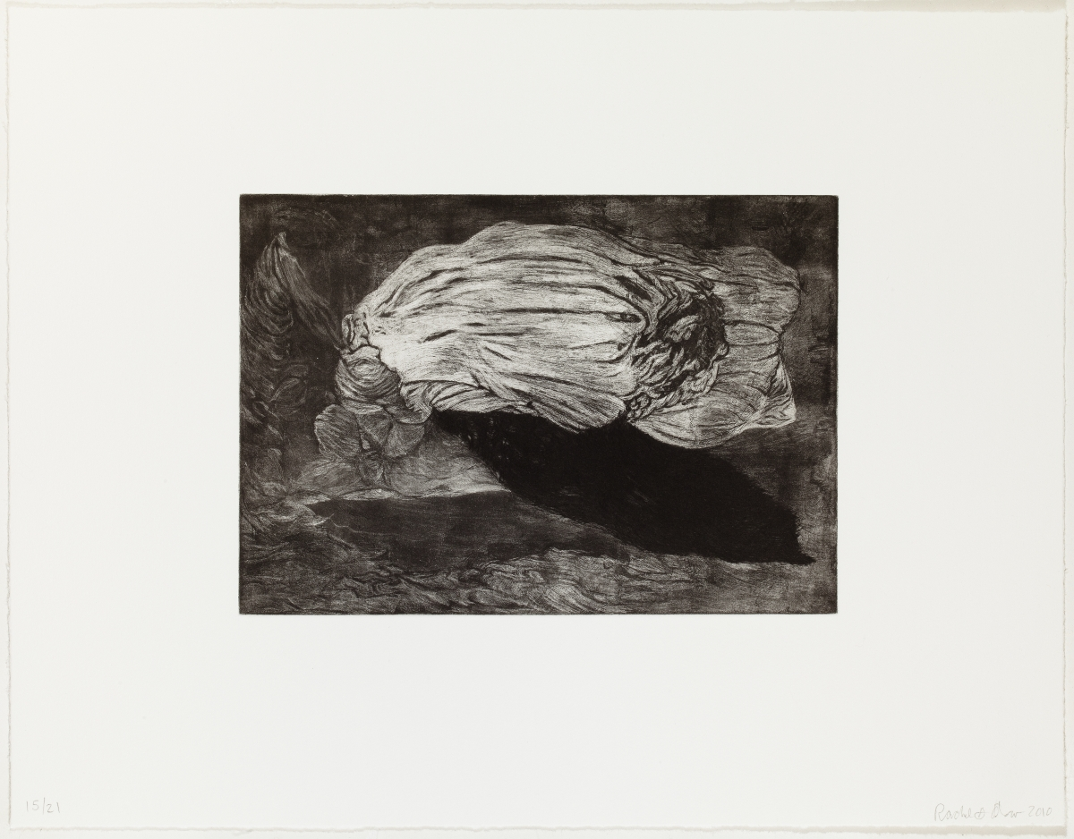 "Apparition (full page), 2010, etching, edition of 21, 13-1/2"" x 17-1/2"" (paper size)"
