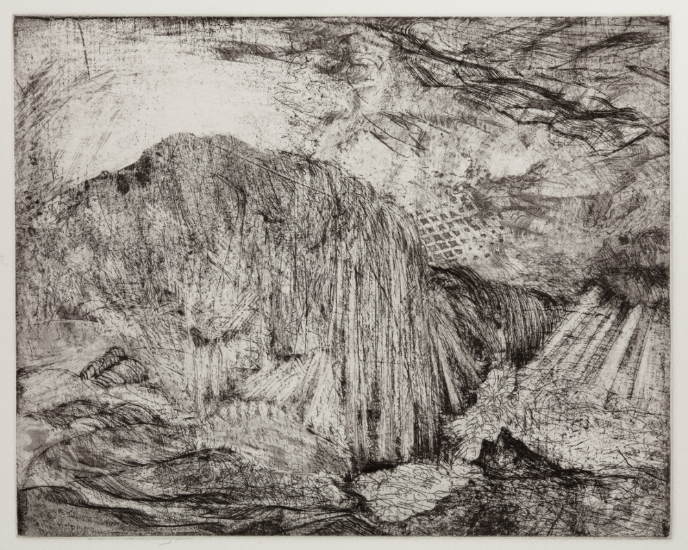 "Lacuna, 2010, etching, edition of 15, 9-1/2"" x 9-1/2"" (paper size)"