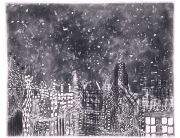 New Years Card, 2005, etching