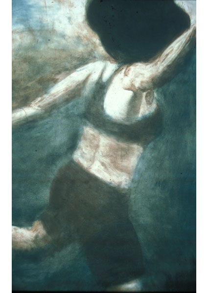 "Untitled (dancer 3), 1999, monotype, 40"" x 24"""