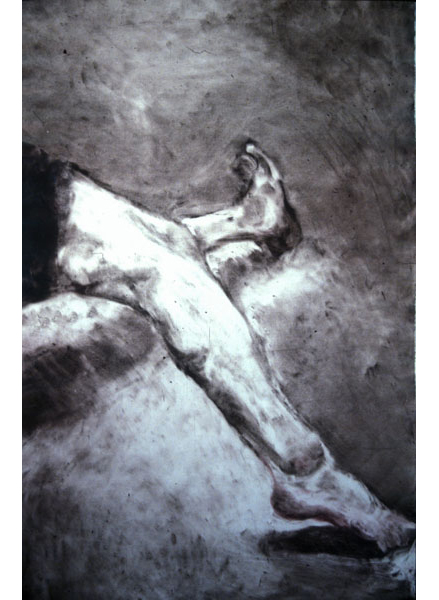 "Untitled (dancer 10), 1999, monotype, 40"" x 24"""