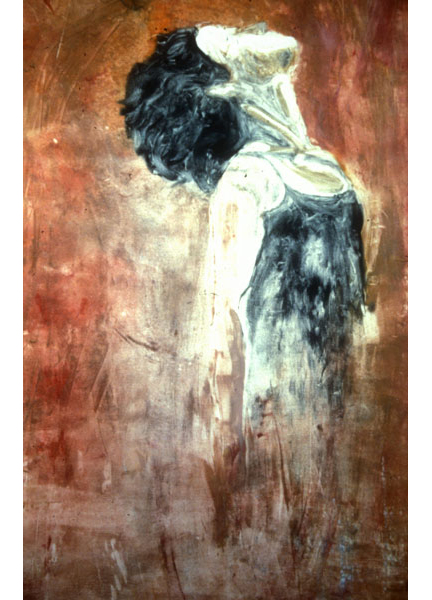 "Untitled (dancer 11), 1999, monotype, 40"" x 24"""