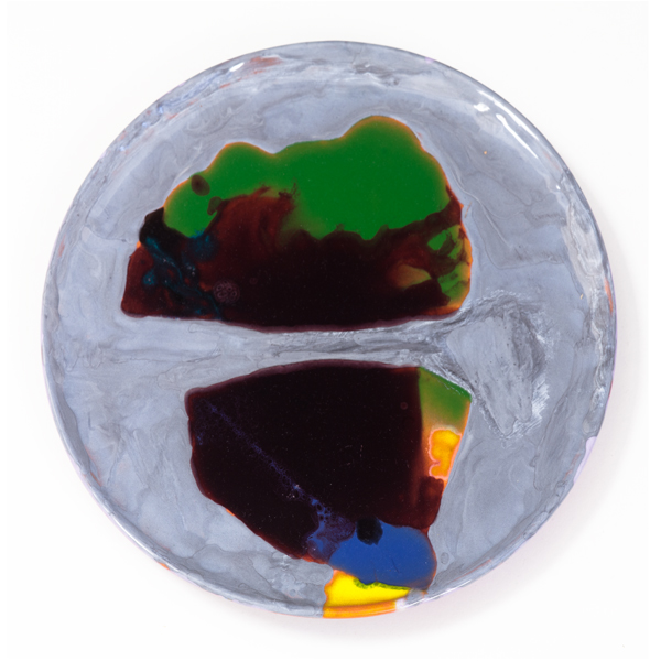 "The Reckless Sleeper, 2013, ceramic plate, 9.5"" diameter"