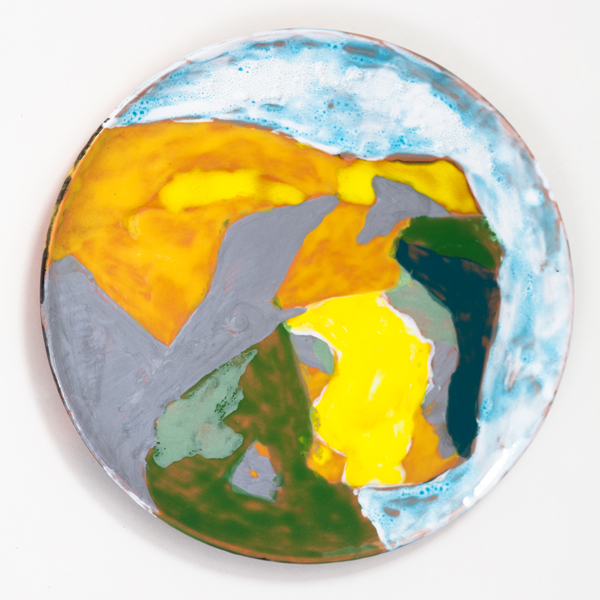 "The Fountain of Youth, 2013, ceramic plate, 9.5"" diameter"