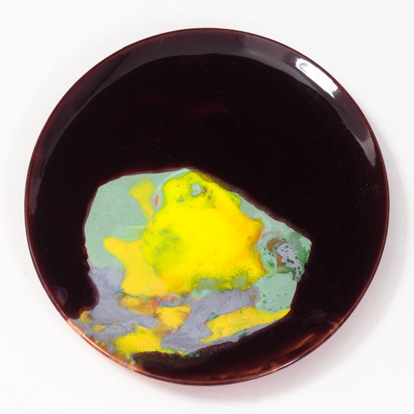 "The Voice of the Air, 2013, ceramic plate, 7"" diameter"