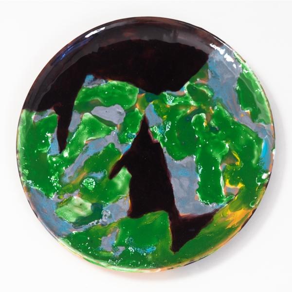 "Say Nothing, 2013, ceramic plate, 9.5"" diameter"