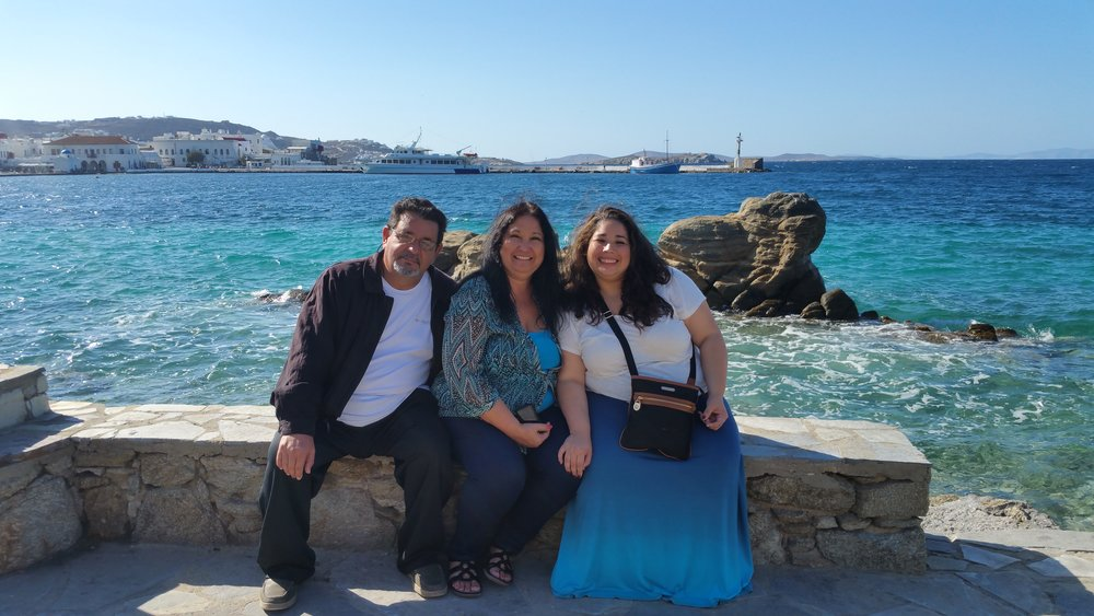 L to R: Hector (Dad) , Maria (Mom & business partner), Michelle (Me)