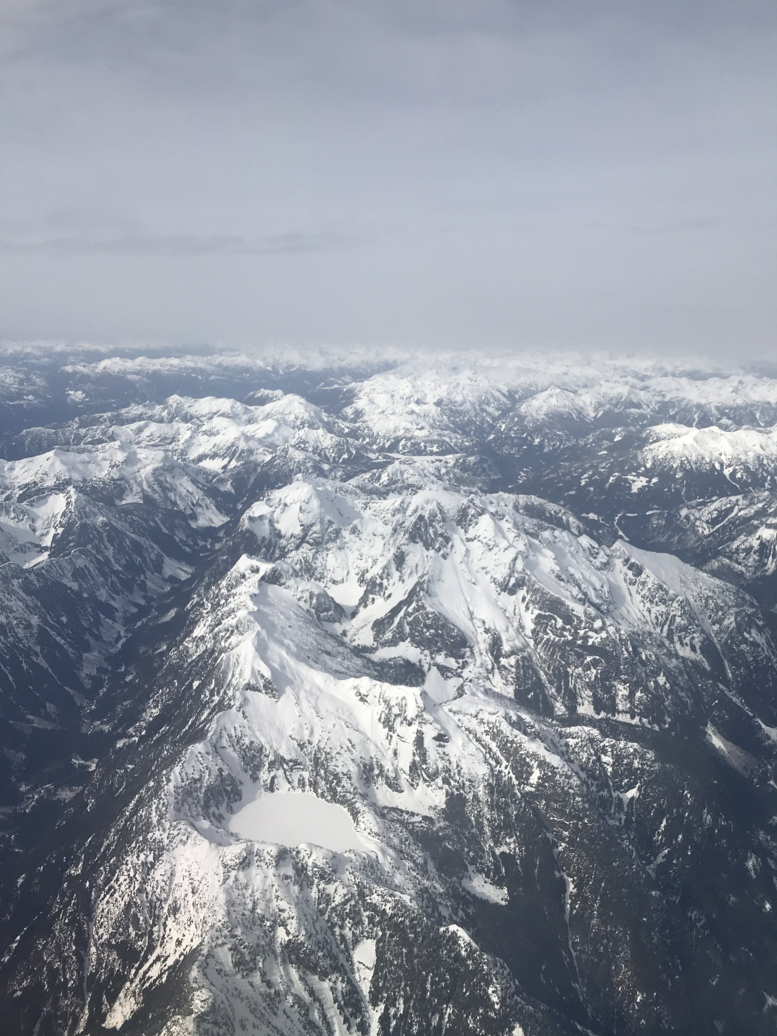 """The beautiful """"Rockies"""" from my plane."""