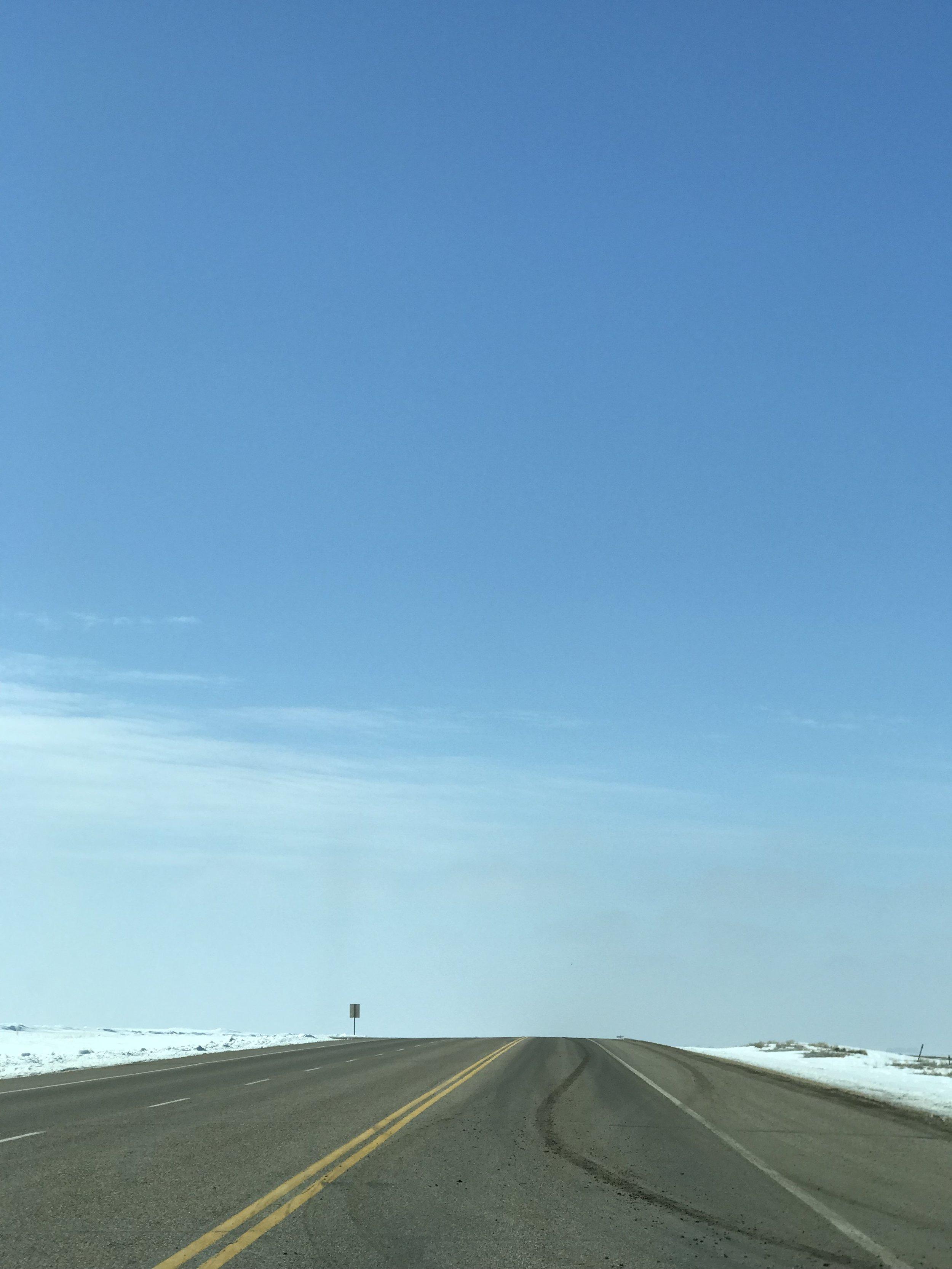 Prairie sky on the road to Lethbridge, Alberta.