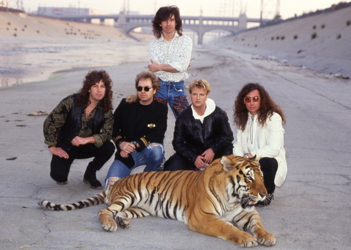 Glass Tiger with drummer Randall Coryell for the filming on the video, ANIMAL HEART.