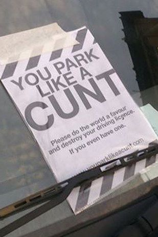 Sweary words don't scare us..we're Scottish! A Glasgow parking ticket.😂